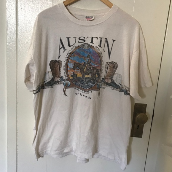 Vintage Other - Vintage 90s Austin Texas t shirt single stitch